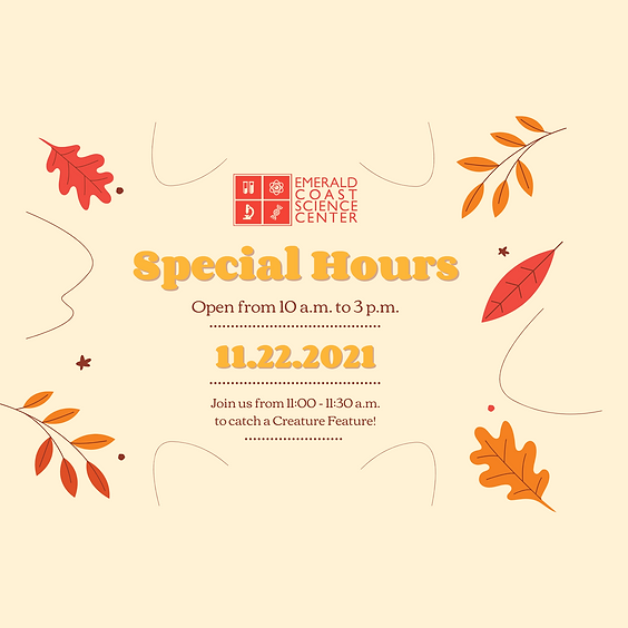 Open Special Hours November 22