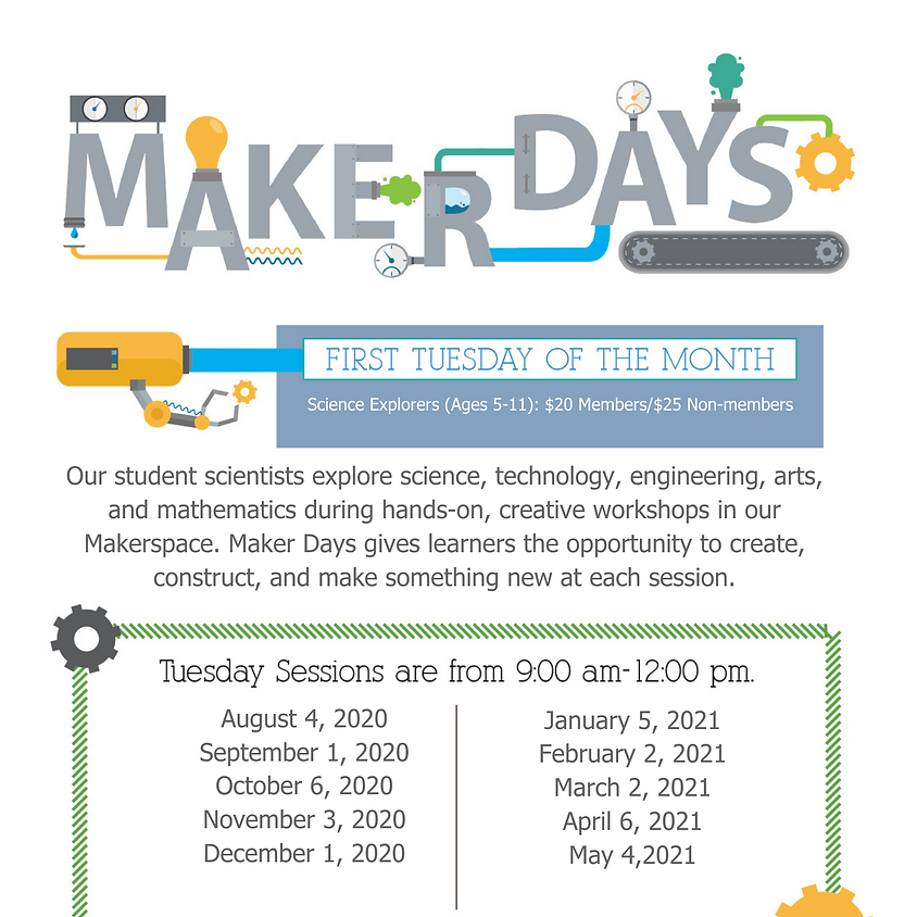 Maker Days SPACE LIMITED, CALL FOR AVAILABILITY 850-664-1261