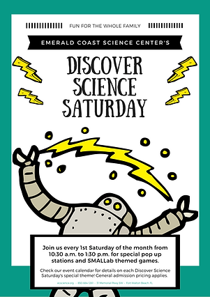 Discover Science Saturday 1st Saturday f