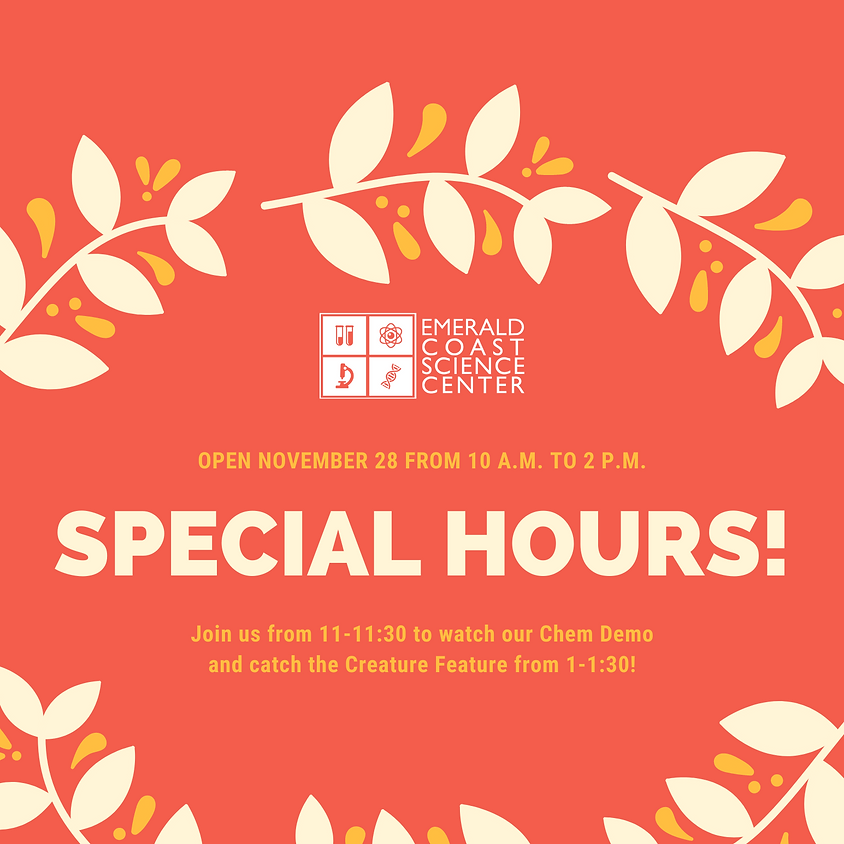 Open Special Hours November 28