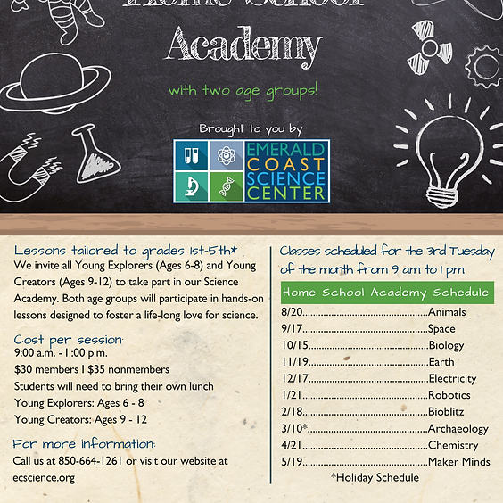 Home School Academy --SPACES LIMITED, CALL 664-1261 FOR REGISTRATION
