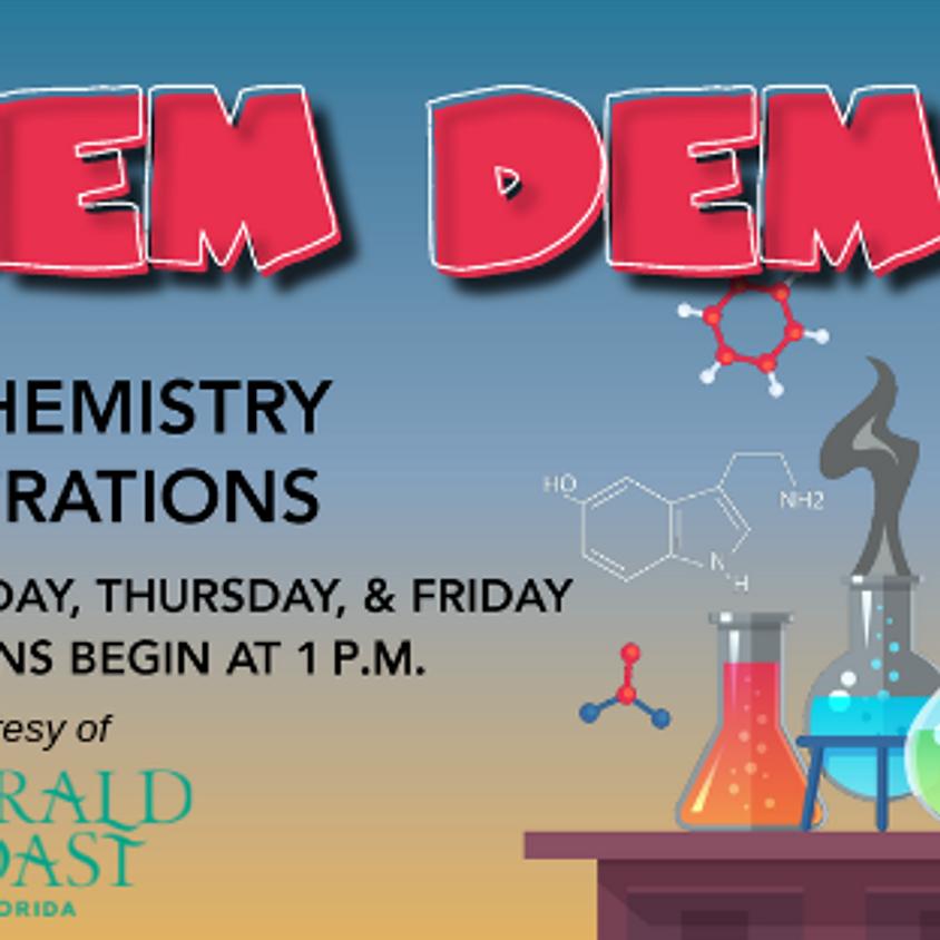 Chem Demos Summer Schedule