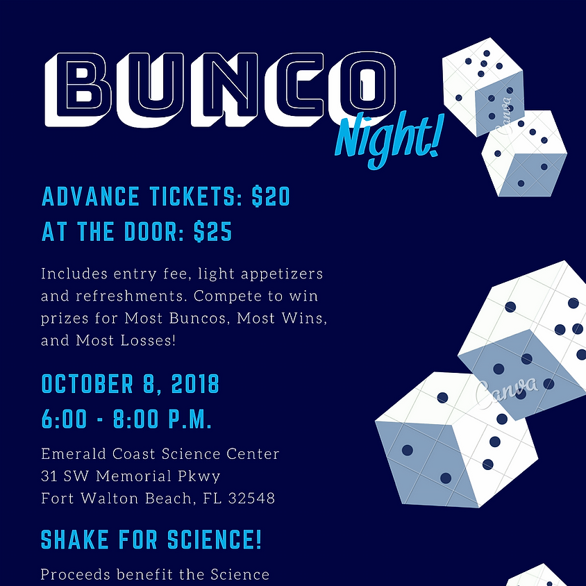Shake for Science at BUNCO Night!