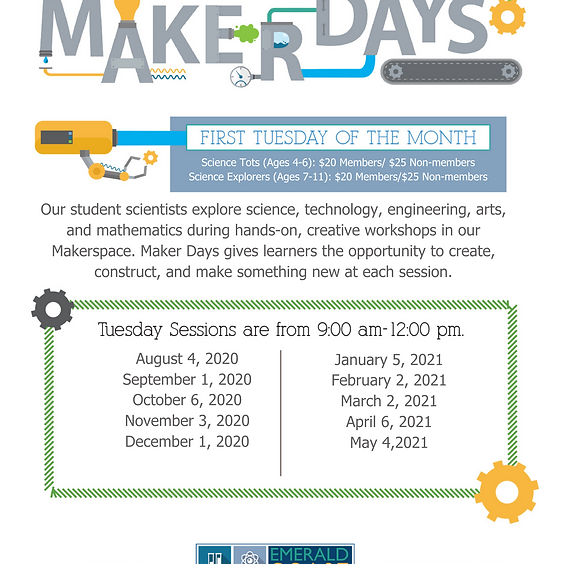 Maker Days CLASS IS SOLD OUT