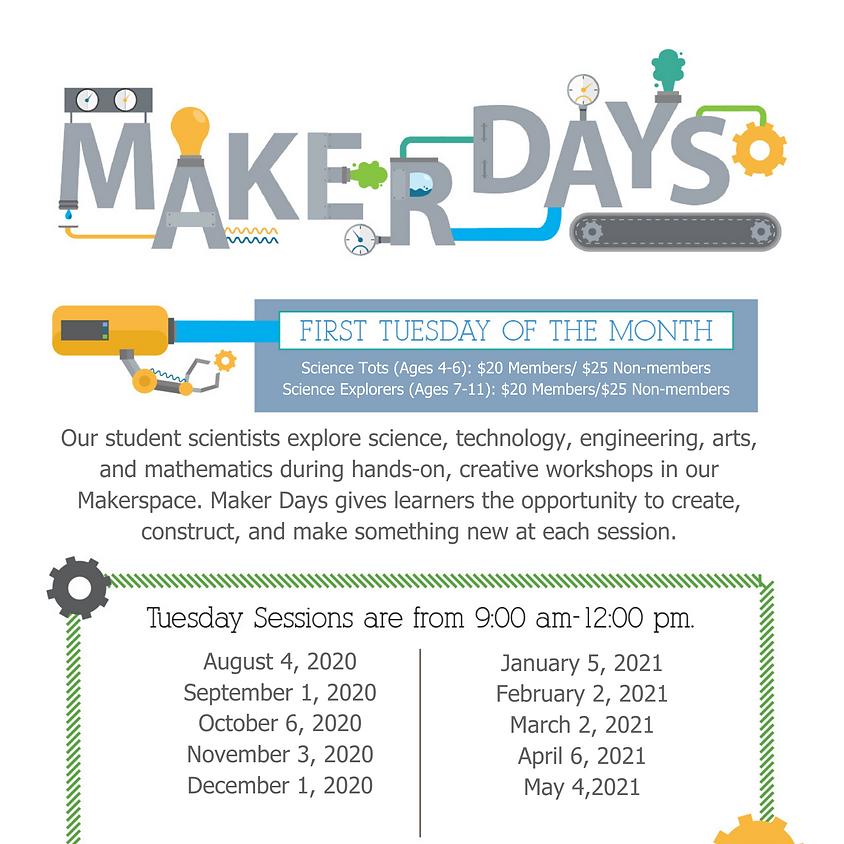 Maker Days CLASS FULL- call for 850-664-1261waitlist
