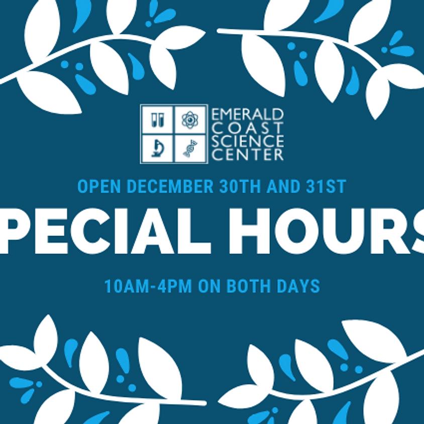 SPECIAL HOURS: OPEN DECEMBER 30 & 31