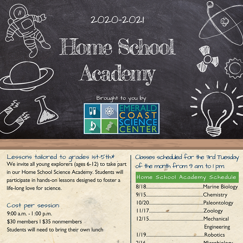 Home School Academy *Spaces limited--call 850-664-1261 for reservations*