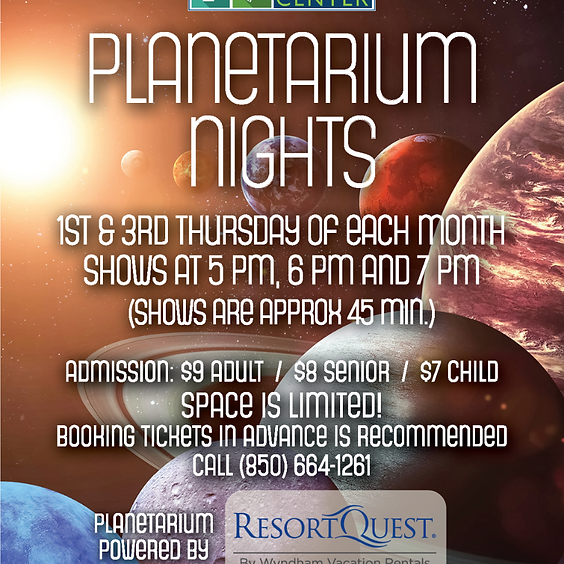 Planetarium Nights: 5 p.m. Show SOLD OUT CALL 664-1261 FOR WAITLIST