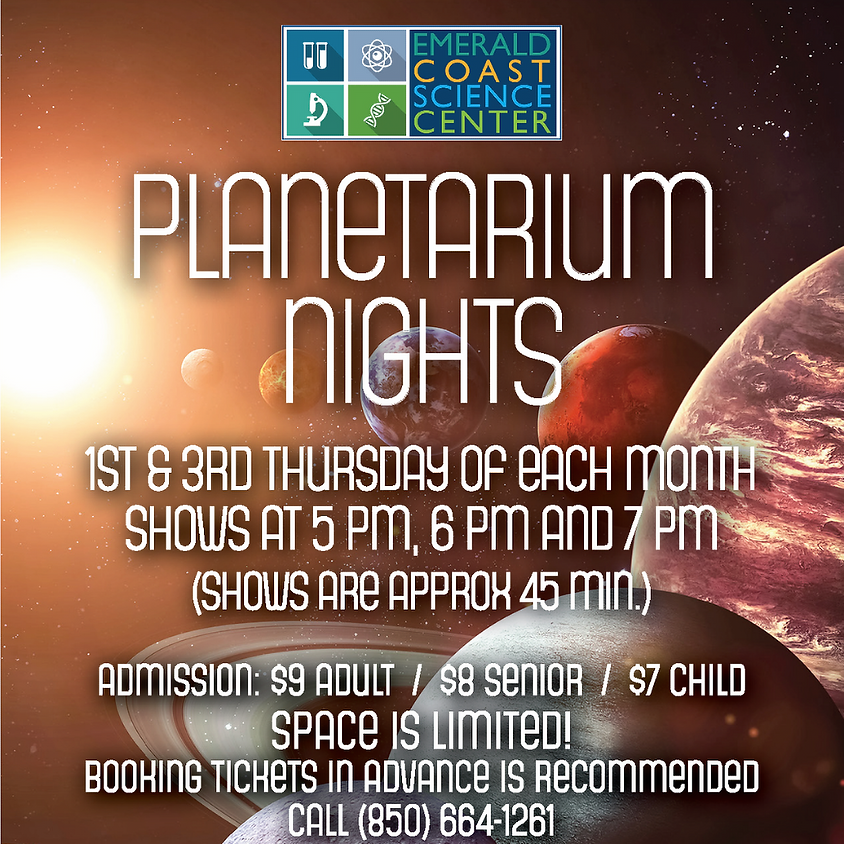 Planetarium Nights: 6 p.m. Show - SHOW SOLD OUT--CALL 664-1261 FOR WAITLIST