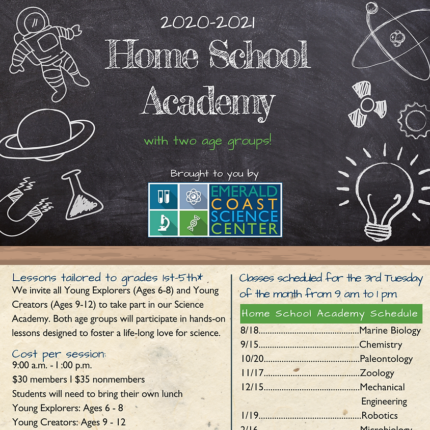 Home School Academy: *Spaces limited--call 850-664-1261 for reservations*