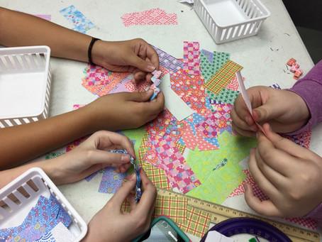 Girls Engaged in Making (GEMs) Take on Paper Engineering!
