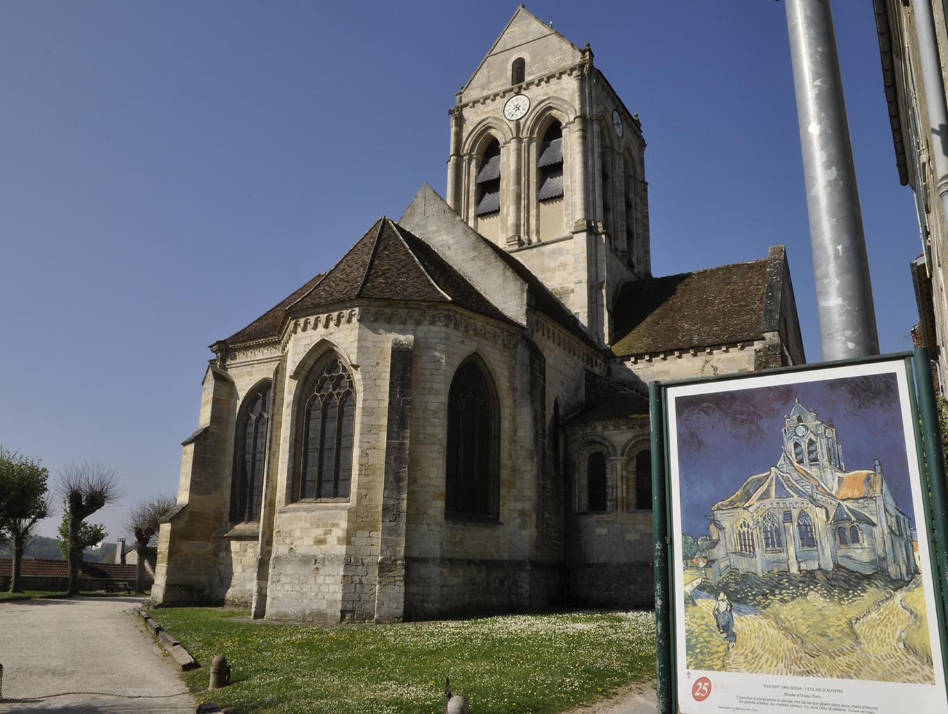 l'église d'Auvers-sur-Oise ©JLPP