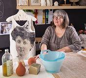 Dans l'atelier d'Evelyne Alice Bridier -