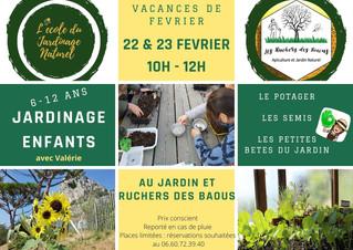 Atelier Jardinage pour les Enfants pour les vacances de Février