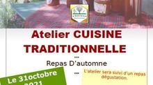 31/10/2021 : Atelier Cuisine Traditionnelle
