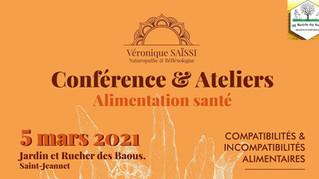 Report de la Conférence Naturopathie / dégustation : L'Alimentation Santé !