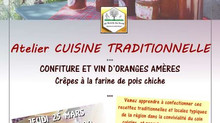 Cuisine traditionnelle : Atelier Confiture d'Orange et Vin d'Orange