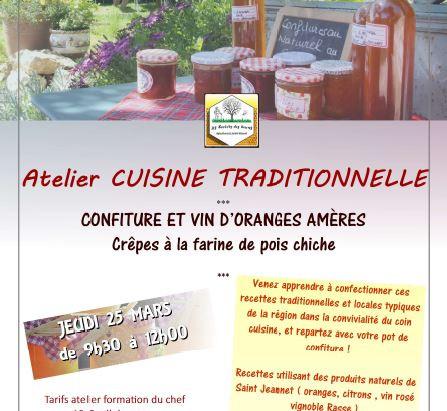 Cuisine traditionnelle : Atelier Confiture d'Orange et Vin d'Orange