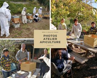 Quelques photos de l'atelier Apiculture du 4 Octobre 2020