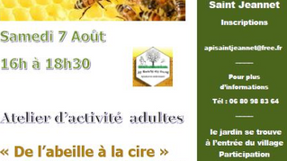 Atelier Apiculture le 7 Août
