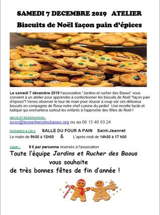 7 Décembre - Atelier Biscuits de Noël !
