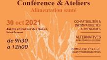 30/10/2021 : Conférence Naturopathie ALIMENTATION SANTÉ