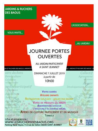 SAINT JEANNET : DIMANCHE 7 JUILLET 2019 JOURNÉE PORTES OUVERTES AU JARDIN PARTICIPATIF