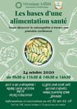 """Conférence Naturopathie """"LES BASES D'UNE ALIMENTATION SANTE"""""""