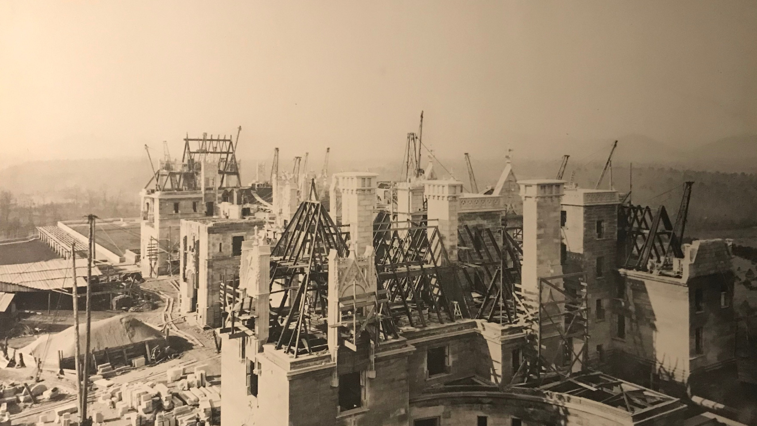 The Biltmore during Construction