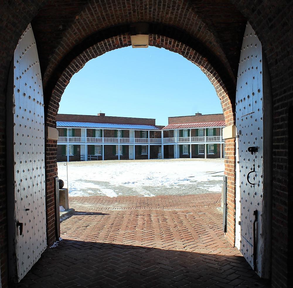 Peering through the Main Gate