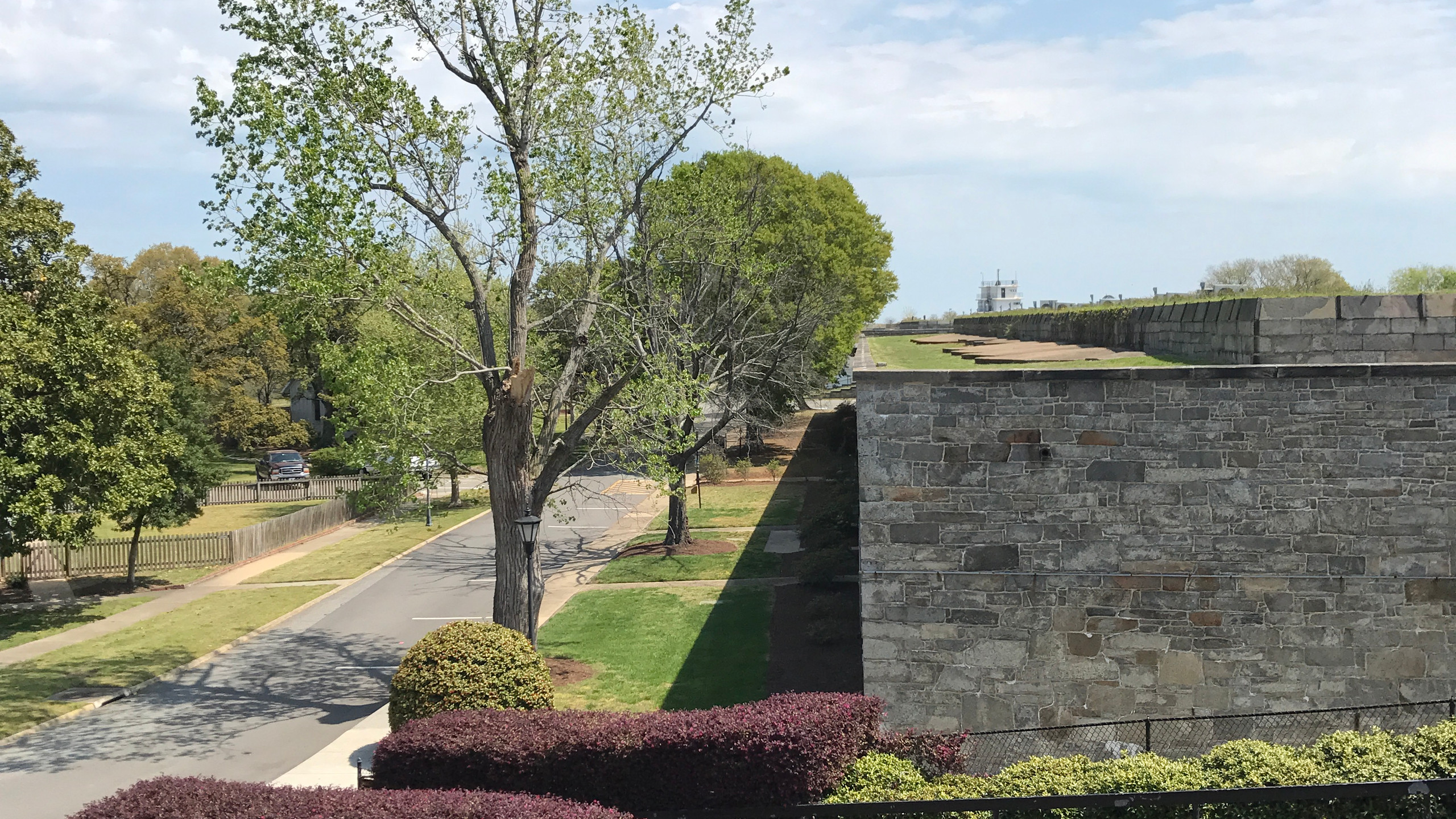 On top of the fort