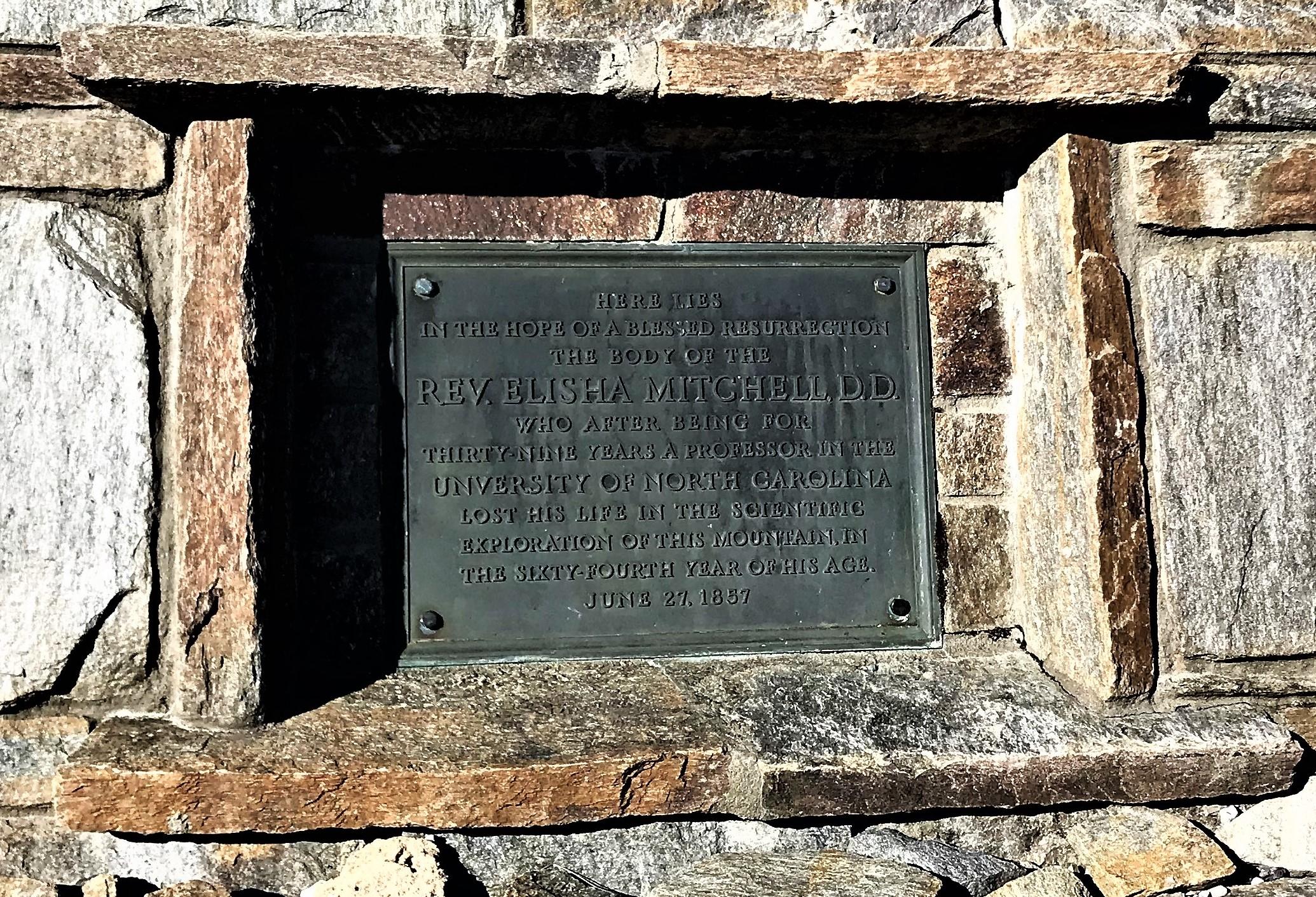 Elisha Mitchell Burial Marker