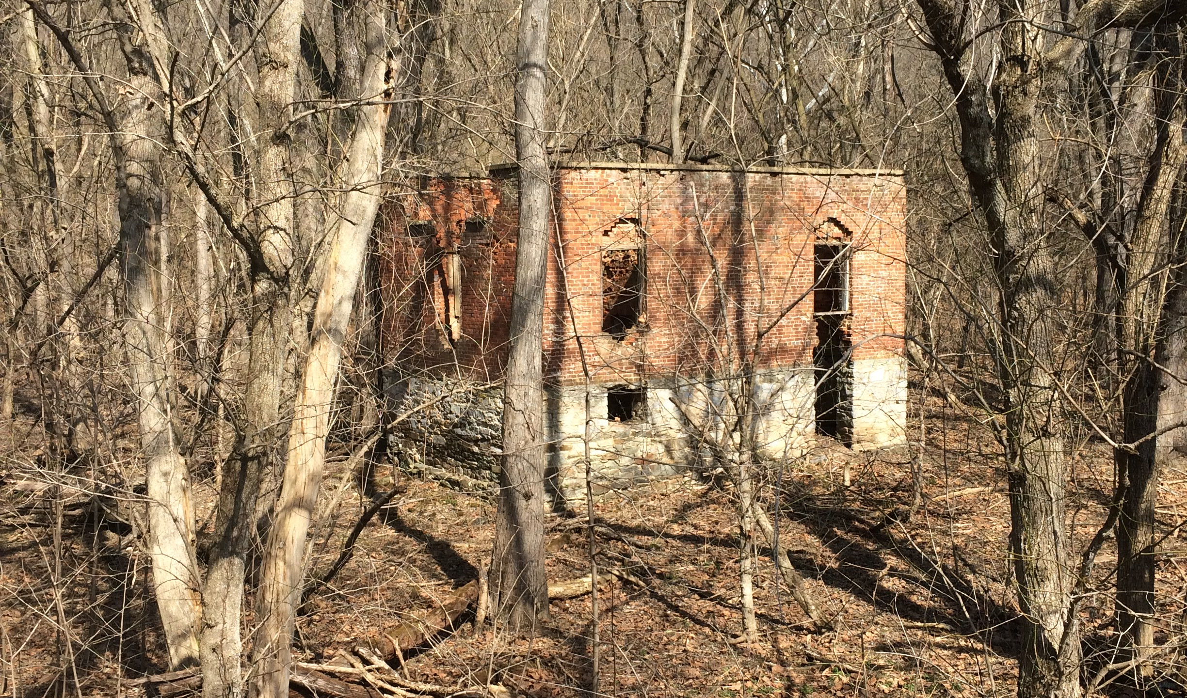 Abandoned Brick Lockhouse