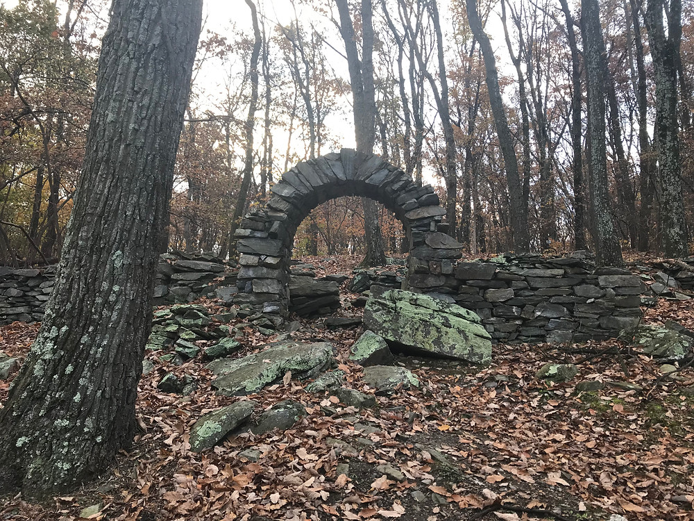 Arched entrance to the empty burial grounds