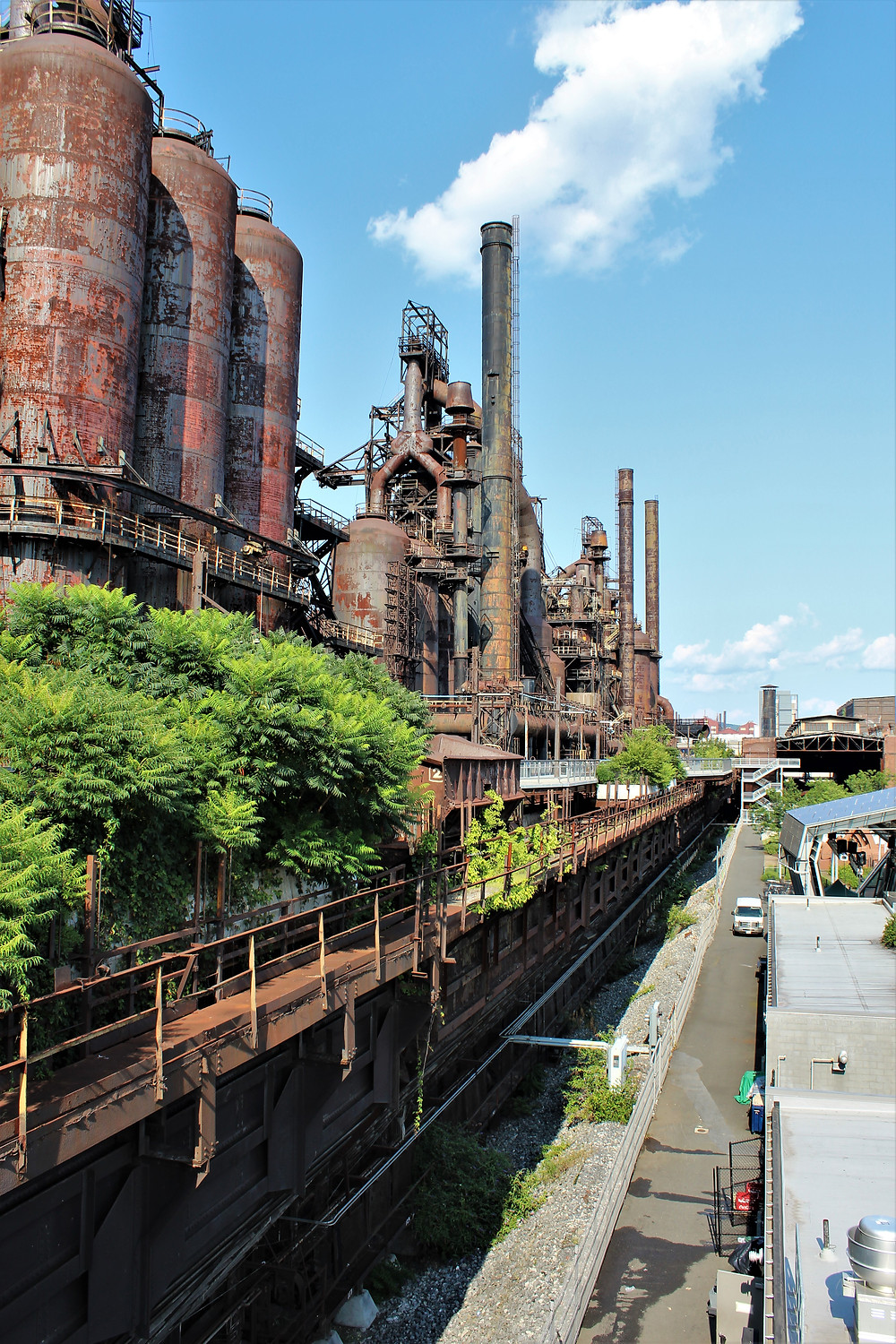 Row of Blast Furnaces from the Hoover-Mason Trestle