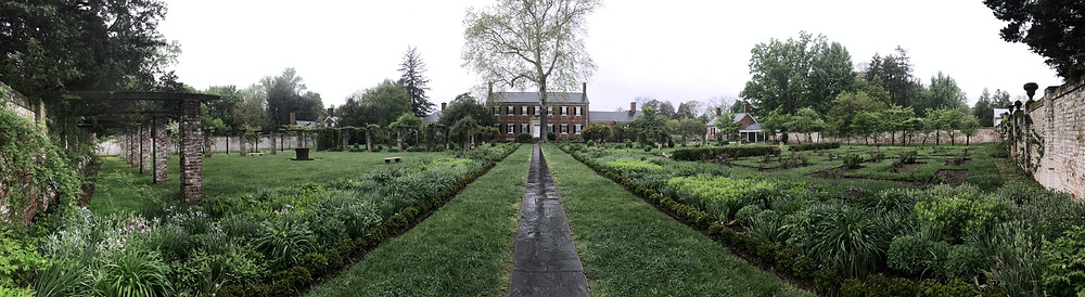 The Gardens in front of Chatham Manor