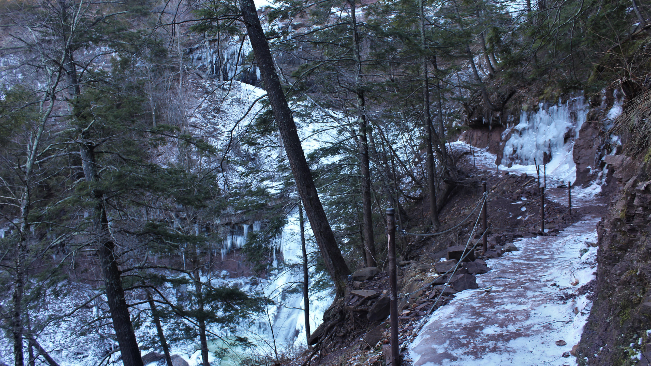 Icy Trail to Upper Falls