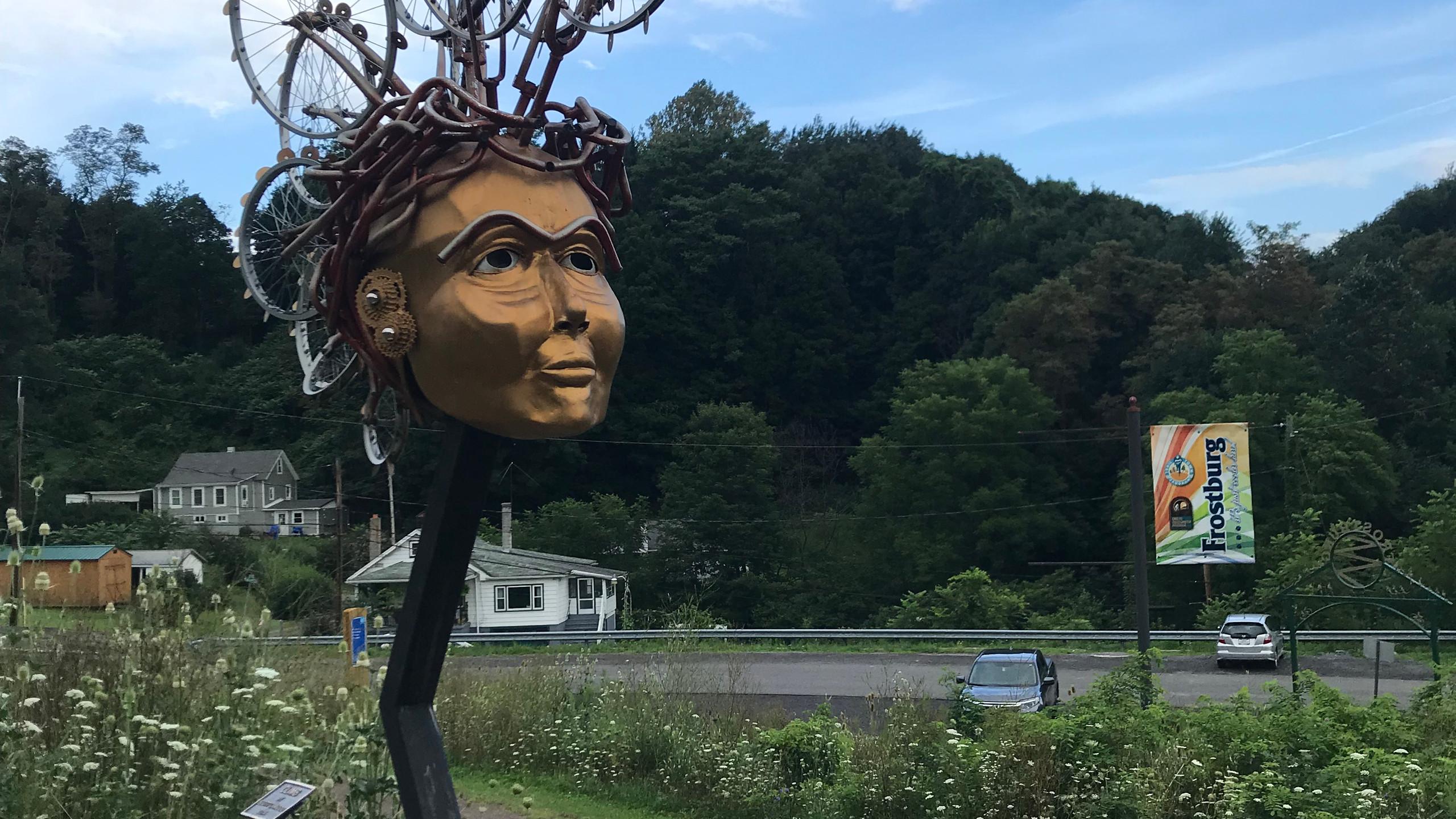Sculpture on the Frostburg Trail