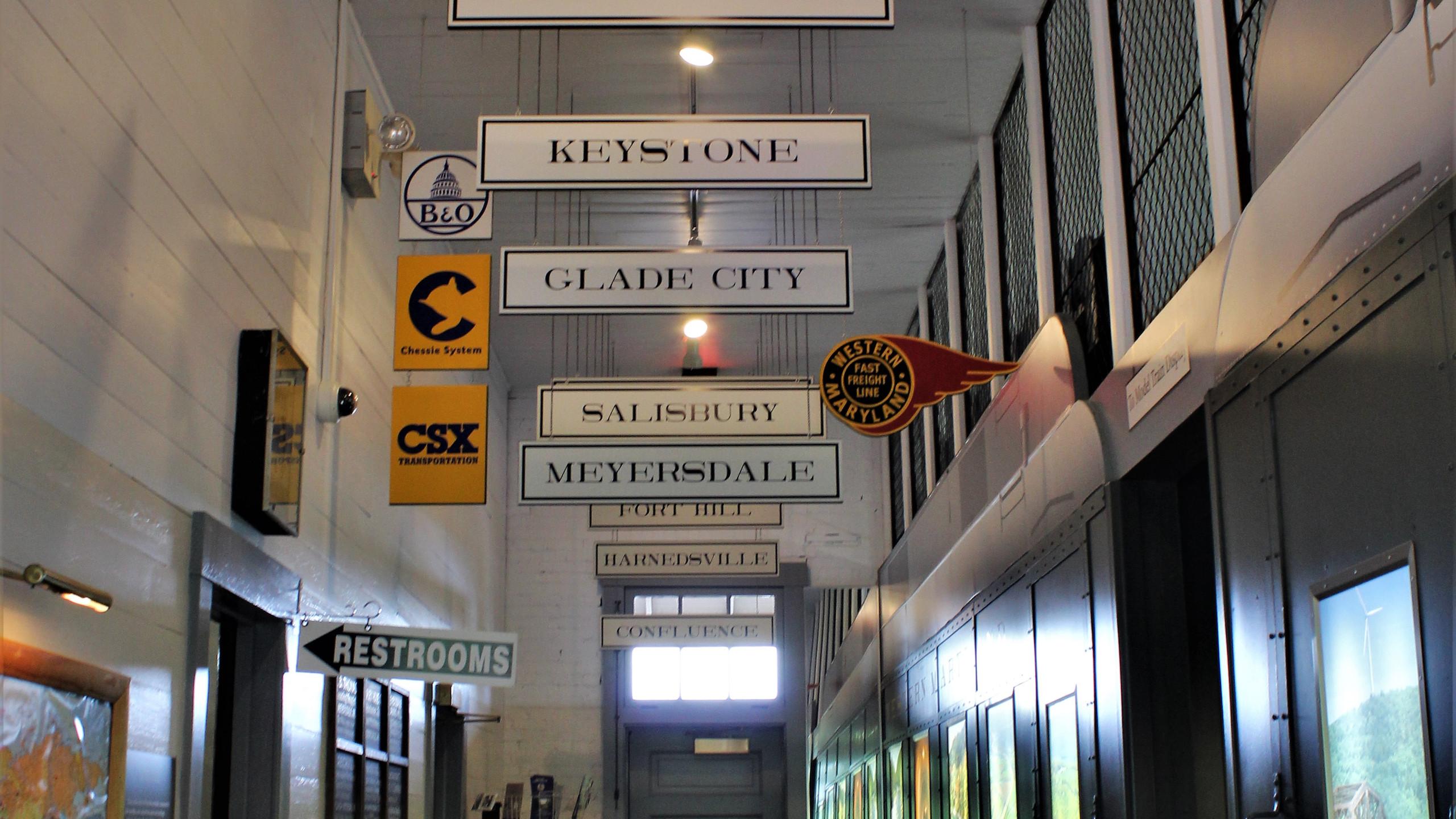Inside of Meyersdale Station