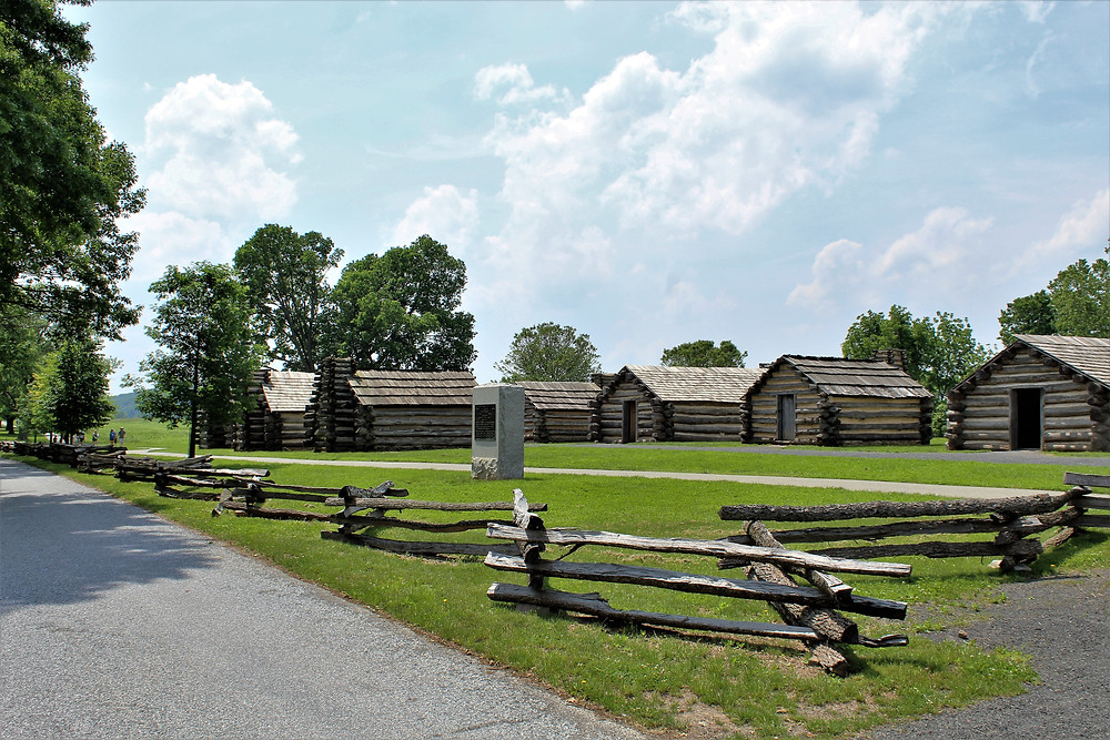 Muhlenberg's Reconstructed Huts