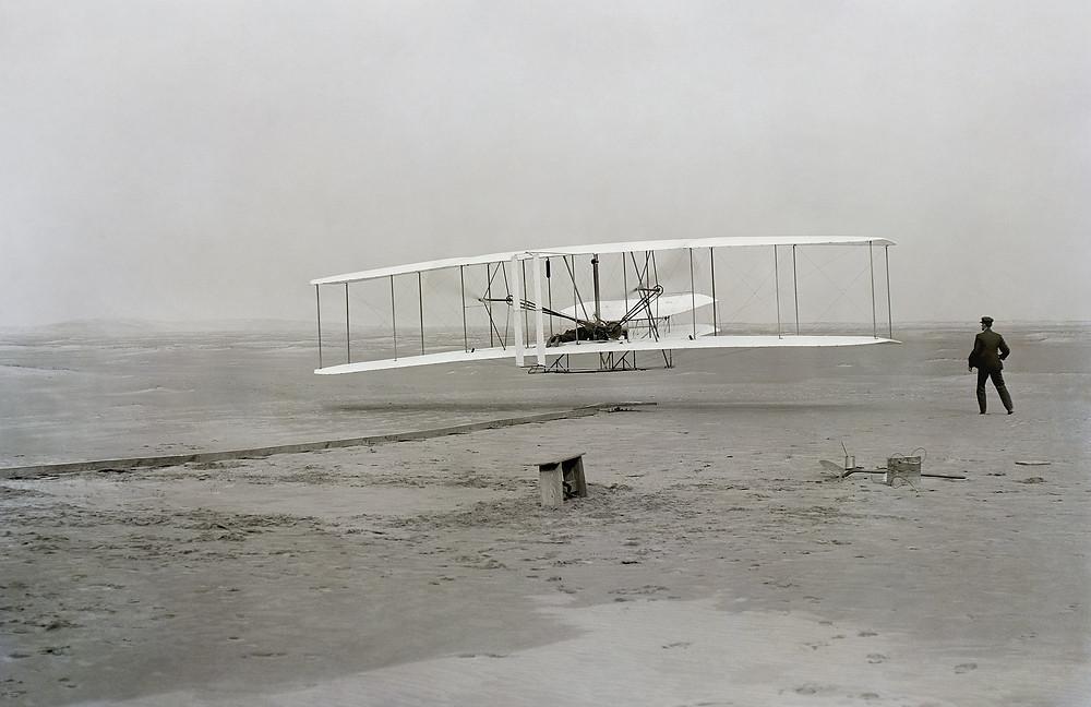 The First Flight (photo by John T. Daniels)