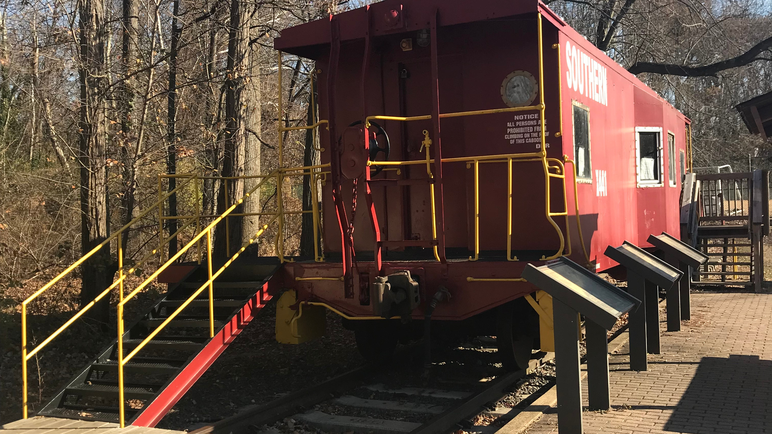 Caboose at Bluemont
