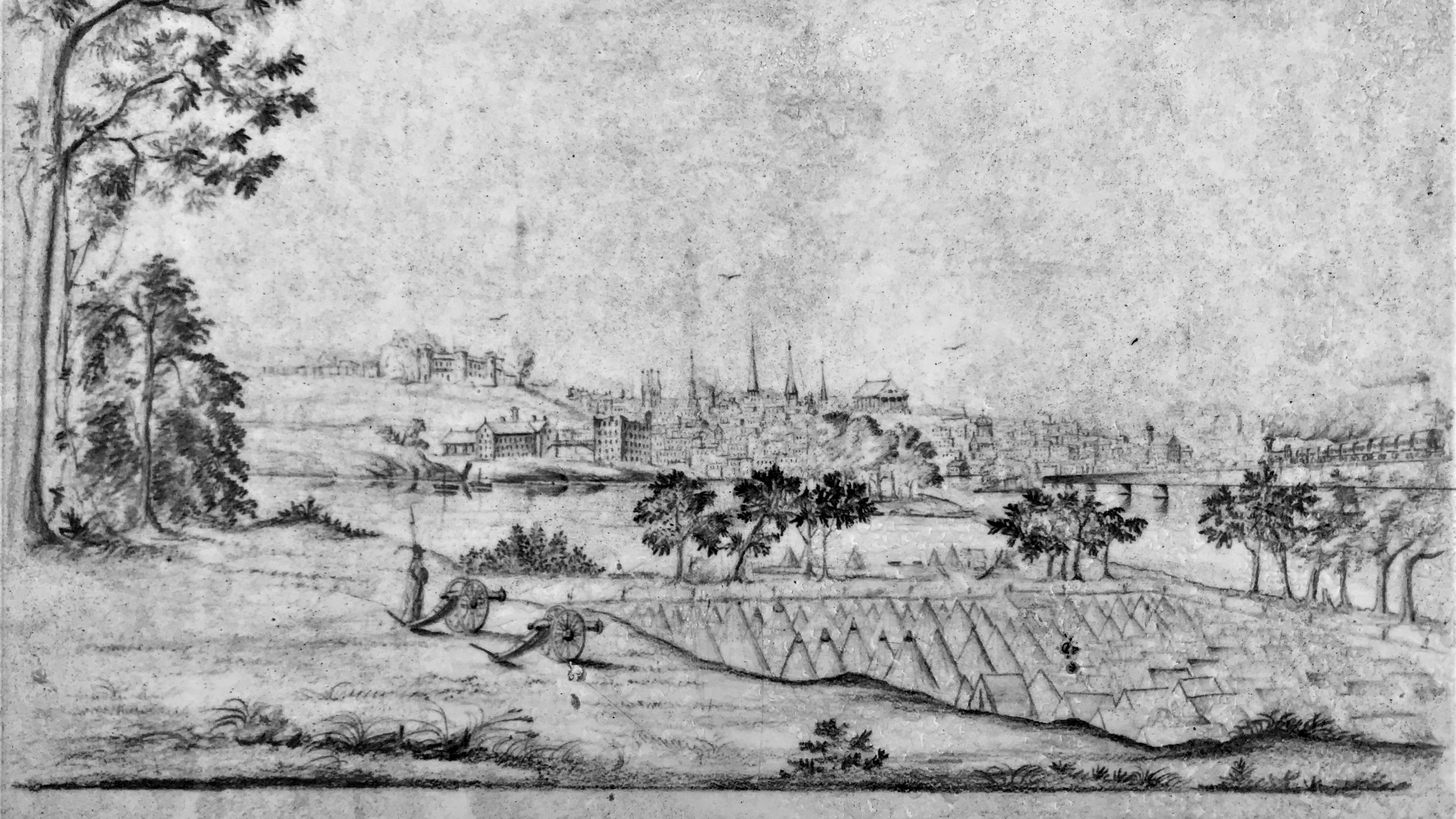 POW Drawing of the Camp