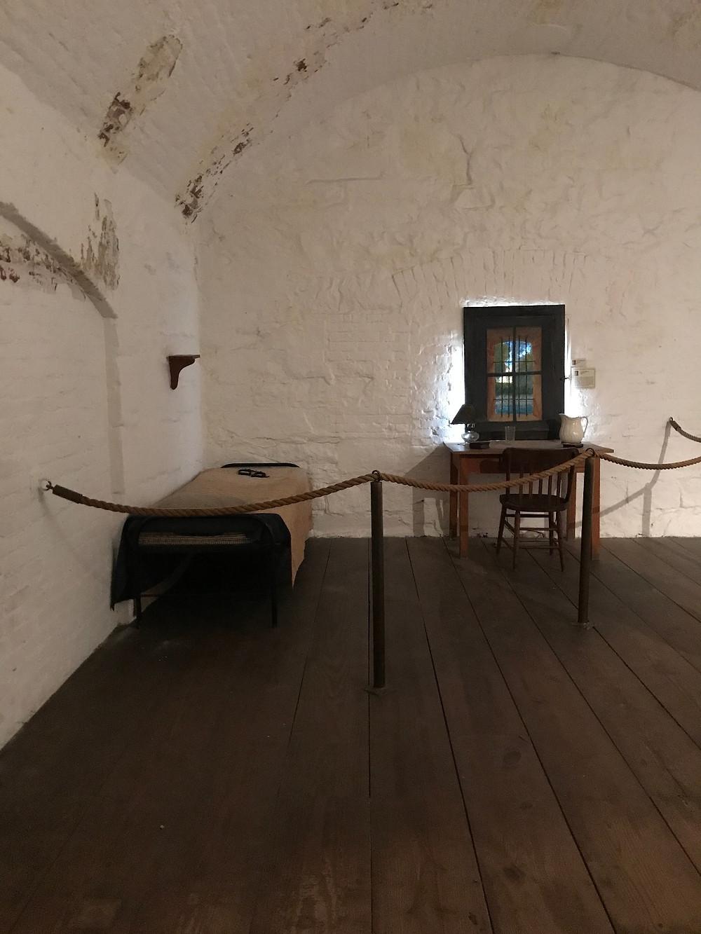 Inside of Jefferson Davis's cell
