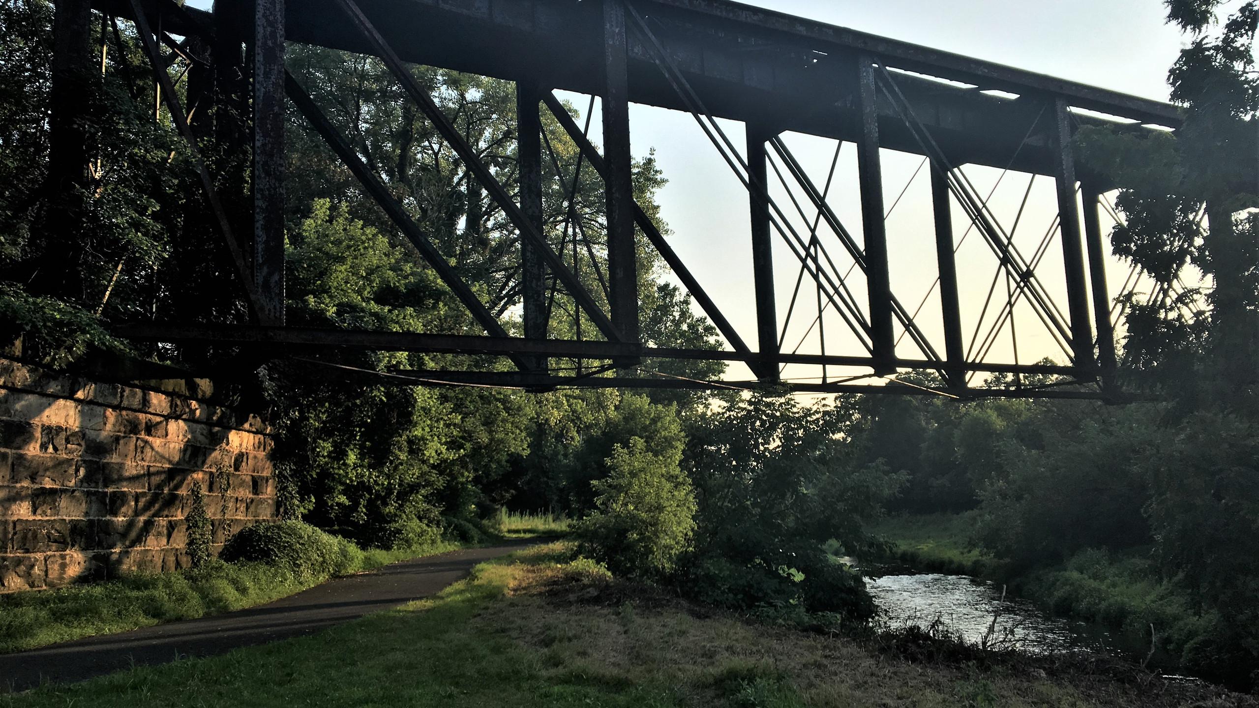 Railroad Trestle across Towpath