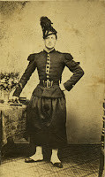 Civil War soldier wearing a typical Chasseur a-Pied uniform
