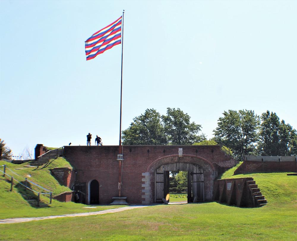 Flag Pole and Main Gate