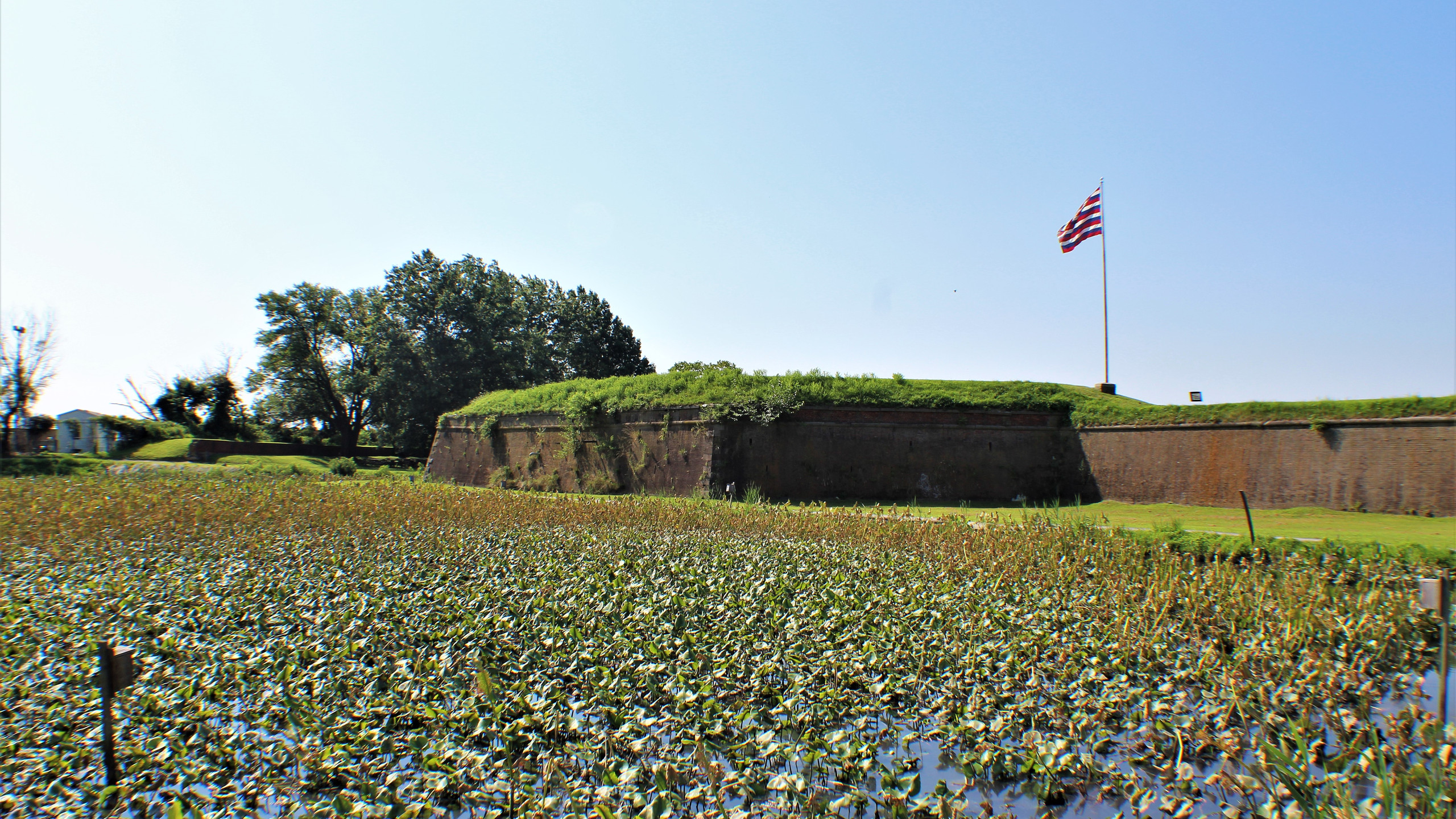 The Moat and Northeast Bastion