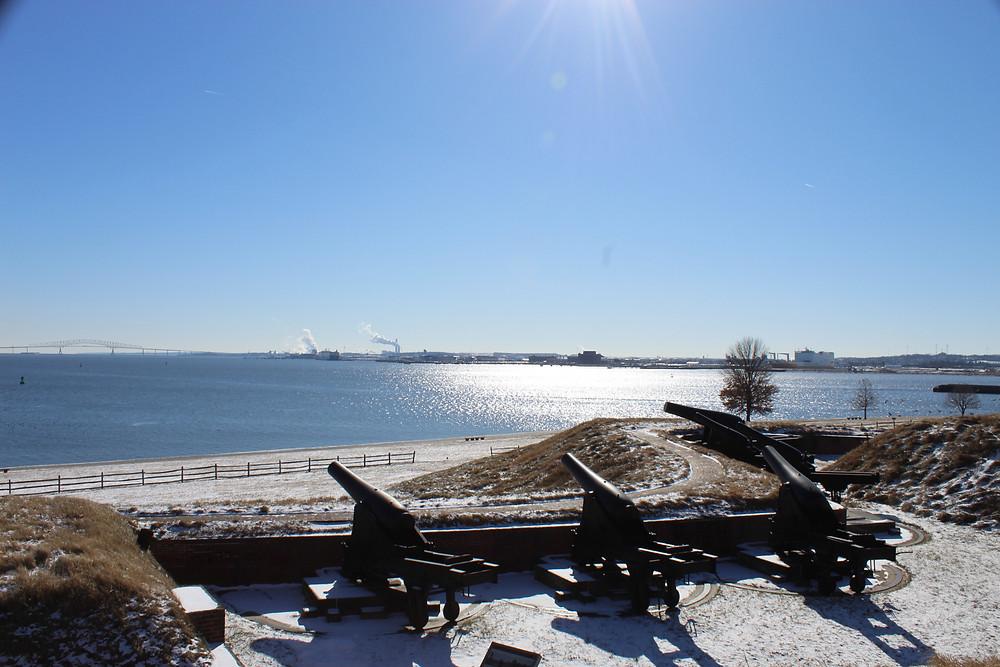 Rodman Cannons overlooking the Patapsco River