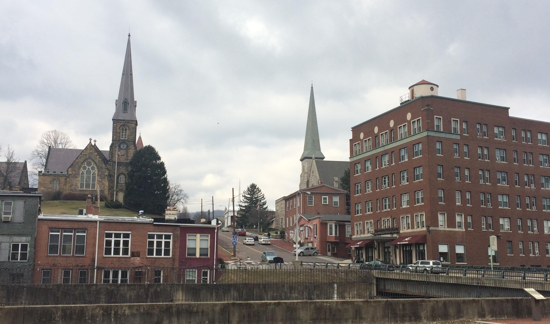 Church Steeples across the Tracks